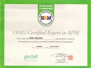 Zertifikat - OCEB Fundamental - Peter Neumann