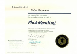 Zertifikat - Photoreading - Peter Neumann